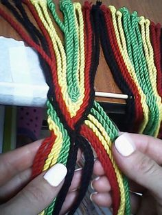 Gasa rombos pasos Inkle Loom, Loom Weaving, Tapestry Bag, Tapestry Crochet, Paracord, Jewelry Patterns, Sewing Patterns, Finger Weaving, Tablet Weaving
