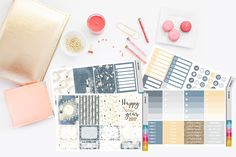 Happy New Year 2017 Planner Stickers | Happy Planner Planner Kit | 16319-01 by TheCleverDesign on Etsy