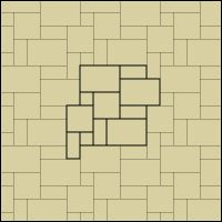 If mosaicing with polymer tiles on boxes or other flat surfaces, here are charts showing different pattern layouts. Click on the dropdown menu on the top left just above the patterns for more layouts.