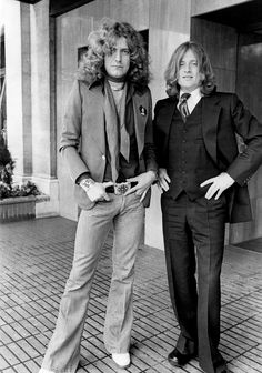 Robert Plant and John Paul Jones, 1977.