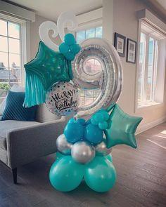 Shark Party Decorations, Birthday Balloon Decorations, Balloon Crafts, Balloon Gift, Balloon Wall, Balloon Garland, Birthday Balloons, Frozen Balloons, Pastel Balloons