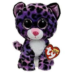 TY Beanie Boos - JEWEL the Purple Leopard (Glitter Eyes) (Regular Size - 6 inch) *Limited Excl.*