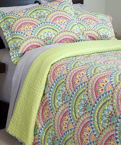This Lavish Home Melanie Quilt Set is perfect! #zulilyfinds F/Q $34.99  Pretty