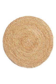 Round jute table mat