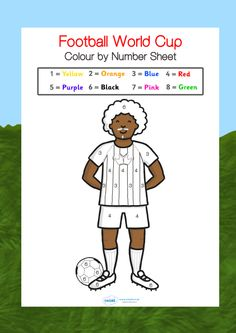 Football/World Cup- World cup colour by numbers