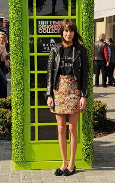 Alexa Chung - inspiring me to get my leather jacket out of storage, despite it being summer