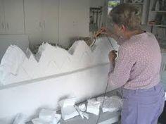 Afbeeldingsresultaat voor how to make a styrofoam base for village