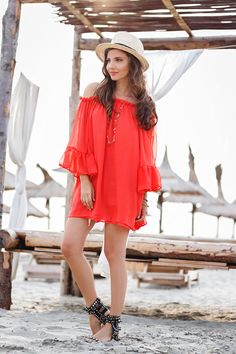 larisa costea, the mysterious girl,larisa costea blog,the mysterious girl blog, fashion blog,fashion blogger, sea side, mamaia, romania, travel, red dress, coral dress, chicwish, summer outfit, ruffled dress, tangerine dress, boho style, beach girl, zanzibar beach