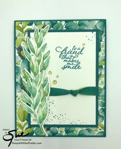 Stampin' Up! Forever Fern Friend Card for the Happy Inkin' Thursday Blog Hop | Stamp With Sue Prather Succulents In Containers, Container Flowers, Container Plants, Fern Plant, Leaf Images, Fall Planters, Specialty Paper, Orchid Care, Cards For Friends