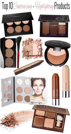 There are a lot of people who nowadays are applying cosmetics using their fingers, in my opinion it looks a lot better if applied using a make-up brush. This article describes the reasons for this and looks at the types of make-up bru Make Up Palette, Le Contouring, Contouring And Highlighting, Best Contour Makeup, Best Contour Palette, Airbrush Makeup, Strobing, Beauty Make-up, Beauty Hacks