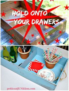 Hold Onto Your Drawers Petticoat Junktion Wood Drawer Serving Tray