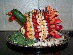 turkey vegetable tray thanksgiving