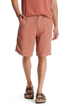 Linen Plain Front Short