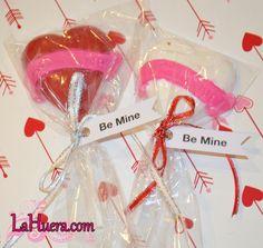 » Valentine's Day Chocolate Lollipops LaHuera.com