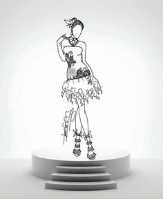 One Of The Fashion Designs Featured In Bernadette Coloring Book Gowns