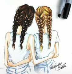 - Nikis- Live -BFF - Nikis- Live - Mother and bride Mom and bride bridal prints bridal Cute Best Friend Drawings, Girly Drawings, Drawings Of Friends, Drawing Of Best Friends, Easy Drawings Of Girls, Best Friend Pictures, Bff Pictures, Pictures To Draw, Bff Pics