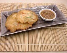 Korean seafood pancakes (Haemul pa jun): Recipes: Good Food Channel