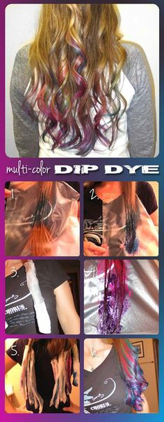 "Splat Multi-Color ""How To"" dip-dye"