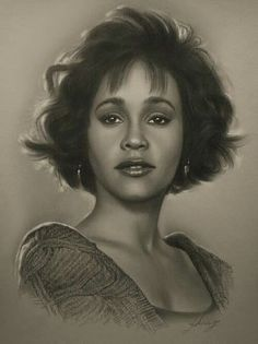 Pencil Portraits - Celebrity Pencil Portraits - Whitney Houston - Discover The Secrets Of Drawing Realistic Pencil Portraits.Let Me Show You How You Too Can Draw Realistic Pencil Portraits With My Truly Step-by-Step Guide. Celebrity Drawings, Celebrity Portraits, Drawings Of Celebrities, Whitney Houston, Pencil Portrait, Portrait Art, Pencil Art, Pencil Drawings, Art Visage