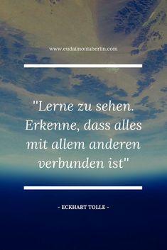 Spiritual sayings in German Eckhart Great Quotes Quotes - Zitate Eckhart Tolle, Dalai Lama, Spiritual Quotes, Good Vibes, Great Quotes, Meditation, German, Spirituality, Self