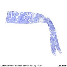 Cute blue white classical flowers pattern tie headband Train Like A Beast, Sweat Out, Tie Headband, All Print, Party Hats, Flower Patterns, Art Pieces, Blue And White, Sewing