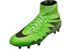 Nike Hypervenom Phantom II FG Soccer Cleats - Green and Black | SoccerMaster.com