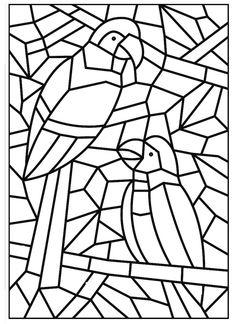 Como Fazer Mosaico de Papel: Fotos - Man Tutorial and Ideas Paper Mosaic, Mosaic Crafts, Mosaic Art, Mosaic Glass, Colouring Pages, Adult Coloring Pages, Coloring Sheets, Coloring Books, Stained Glass Designs