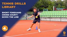 Forehand drill with 2 different targets where the player has to move around the cone and forward to attack the ball.  Improve your game or add this drill to your drills library!  SUBSCRIBE to see more High-Quality tennis videos. Thanks Tennis Videos, Drills, Improve Yourself, Thankful, Game, Top, Drill, Gaming, Toy