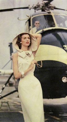 1957. 1957 fashion, style, vintage glamour, hoods, sexy vintage dress, retro fashion, day dresses, 1950 accessories, 1950s fashion