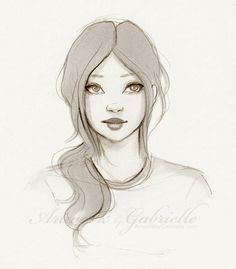 Girl Sketch / Ragazza, bozzetto, schizzo - Artwork by Gabrielle (Art by gabbyd70 on deviantART)