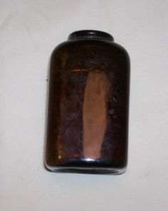 snuff bottle vintage brown glass by rustyitems on Etsy, $10.00