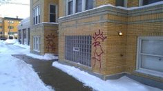 Bad winter weather puts removal of graffiti on hold in Chicago, IL.  photo by Christian Flores/MEDILL  All graffiti unless it's sanctions by the community or government should be treated the same way, as a criminal act of vandalism.  Read more on our blog: http://taginator.com/wordpress/2014/03/12/bad-winter-weather-puts-removal-graffiti-hold-chicago-il/