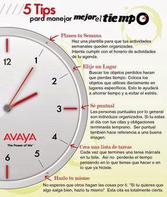 5 consejos para la gestión del tiempo #infografia #infographic