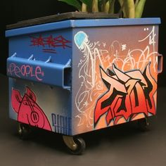 dumpster graffiti | Steelplant: Punk Out Your Flowers With Desktop Graffiti Dumpsters