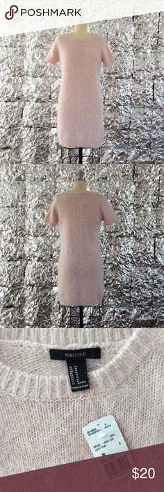 💕NWT Fuzzy Baby-Pink Dress💕 Truly ADORABLE, this women's size medium dress is from Forever 21 and is brand new with tags! Feel free to ask questions or make an offer!!💕💕💕 Forever 21 Dresses Midi