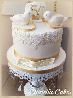 Love Bird - Golden Anniversary Cake