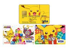 Pikachu and Hoopa VISA credit card designs