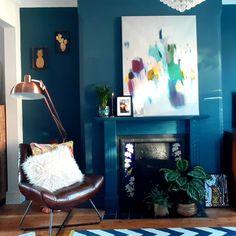 #ourhouseatno58 instagram. Sitting room renovation Dark Interiors, Room, Painting, Instagram, Bedroom, Painting Art, Rooms, Paintings, Painted Canvas