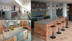 43 cuisines avec de superbes îlots ou comptoirs de cuisine en béton
