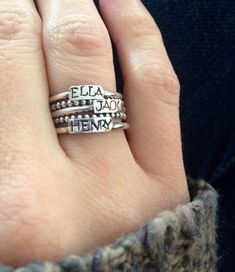 Ring with children's names