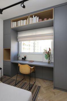 Small room design – Home Decor Interior Designs Small Room Design, Home Room Design, Home Office Design, Home Office Decor, Home Interior Design, Home Decor, Bedroom Closet Design, Small Room Bedroom, Home Bedroom