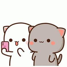 Emoji Stickers, Cute Stickers, Gif Lindos, Cute Anime Cat, Bear Gif, Sad And Lonely, Cute Love Gif, Cat Selfie, Cute Love Cartoons