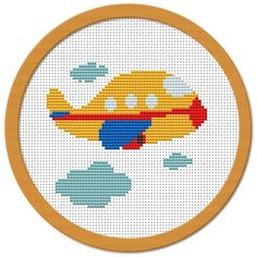 My Little Airplane Cross Stitch Pattern PDF by Atinyshop on Etsy