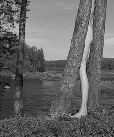 Another series of beautiful black and white landscape photos? Using his own naked body, Finnish-born artist Arno Rafael Minkkinen interacts Arno, Helsinki, Landscape Photos, Landscape Art, Trucage Photo, Black And White Landscape, Body Photography, Surrealism Photography, Paris Ville