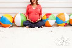 Beach ball maternity photo!