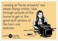 So true!!! And I really hate seeing a magnificent house and shanty little barn!