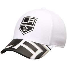 brand new 27b97 0eddd Los Angeles Kings Reebok Face Off Draft Flex Hat - White