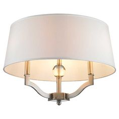 Cast a warm glow in your foyer or living room with this lovely semi-flush mount, featuring a crystal orb accent and drum shade.