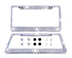 Tokept Bling Bling Rhinestones License Plate Frame for Women with 2 HolePack of 2 Crystal 3 ** Learn more by visiting the image link.Note:It is affiliate link to Amazon.