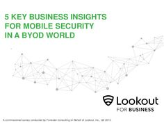 5 Key Business Insights for Mobile Security in a BYOD World by Lookout via slideshare